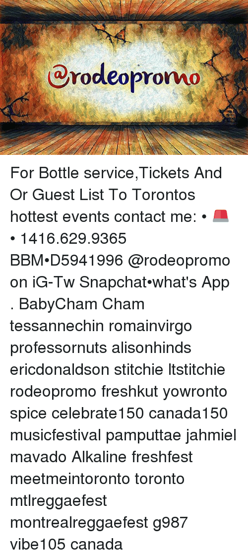 Rodeopromo for Bottle serviceTickets and or Guest List to