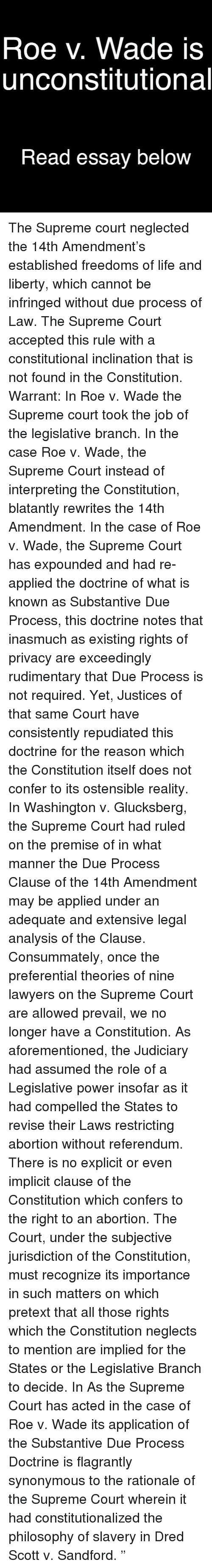 14th amendment persuasive essay Though it might render the argument more persuasive,  or less identical to the constitution-says-it-now argument, , the death penalty and the fifth amendment,.