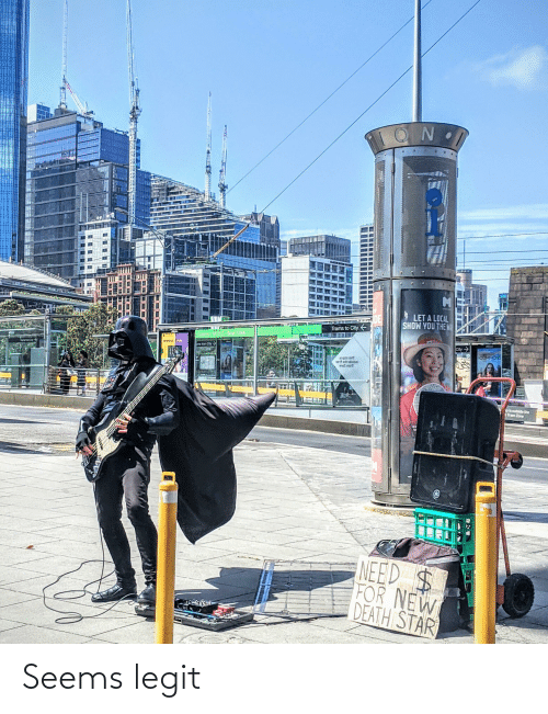 Death Star, Casino, and Death: ROF  LET A LOCAL  SHOW YOU THE WA  DE  Trams to City  Casino/MCE Stop 124A  City>  SERIOUS. FUL  Ts from City->  COMMONS  ai gata aint  9art orti sbietuo  anos mal  pis outside the  Tram Zone  VI  NEED $  FOR NEW  DEATH STAR Seems legit