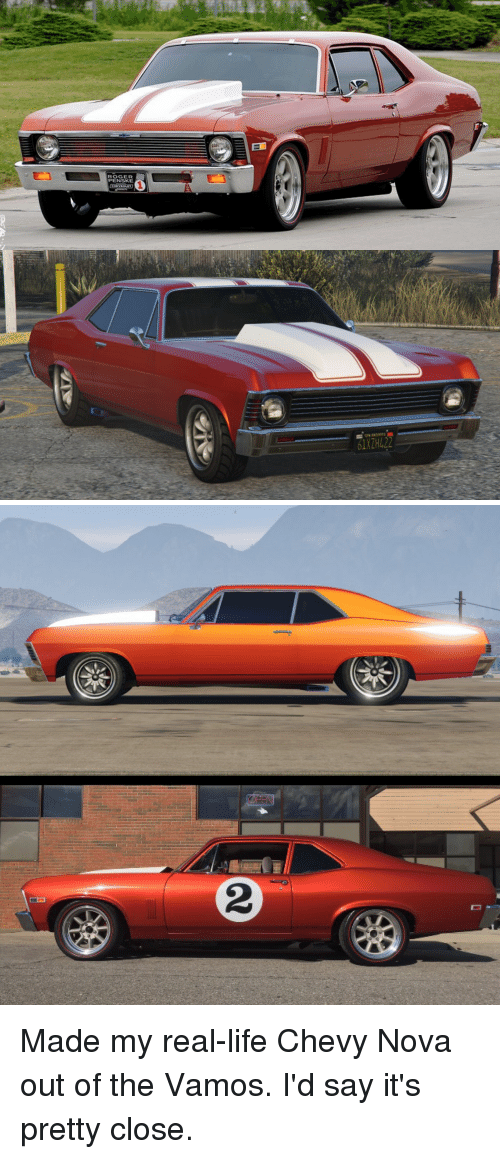 Life, Roger, and Chevy: ROGER  PENSKE  1XZH422 Made my real-life Chevy Nova out of the Vamos. I'd say it's pretty close.