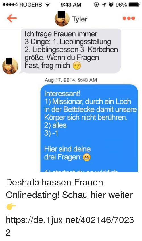 fragen online dating