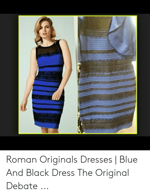 Roman Originals Dresses Blue And Black Dress The Original Debate Black Meme On Me Me
