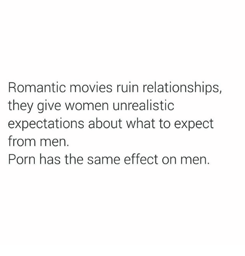 Do romance movies ruin relationships