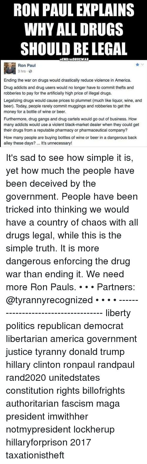 drugs should not be legalized in america Should we end the war on drugs sections  home  drugs are prompting calls for decriminalization or legalization america should, however, learn from the psychoactive drug used by a majority.