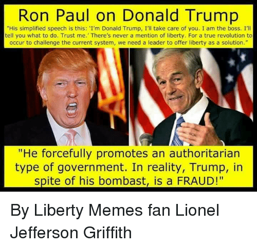 ron paul on donald trump his simplified speech is this 13257526 ✅ 25 best memes about ron paul ron paul memes