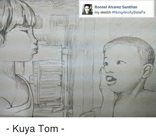 Filipino (Language), Tom Sawyer, and Alvarez: Ronnel Alvarez Santillan  my sketch - Kuya Tom -