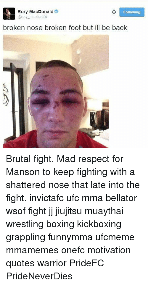 Nose Mma fighter broken