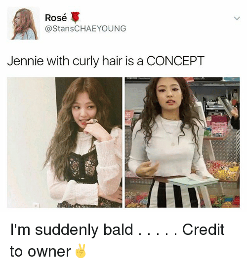 Rose Ca Stanschaeyoung Jennie With Curly Hair Is A Concept