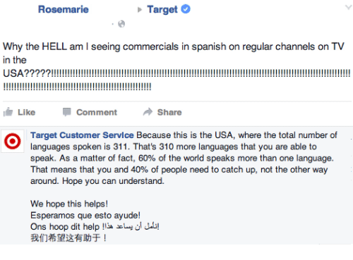 Rosemarie Target Why The HELL Am L Seeing Commercials In Spanish - Total languages in world
