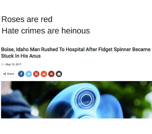 Roses Are Red Hate Crimes Are Heinous Boise Idaho Man Rushed to