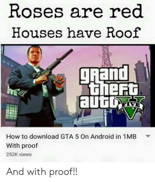 Roses Are Red Houses Have Roof How to Download GTA 5 on Android in