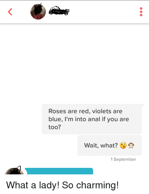 Consider, Anal blue violet right!