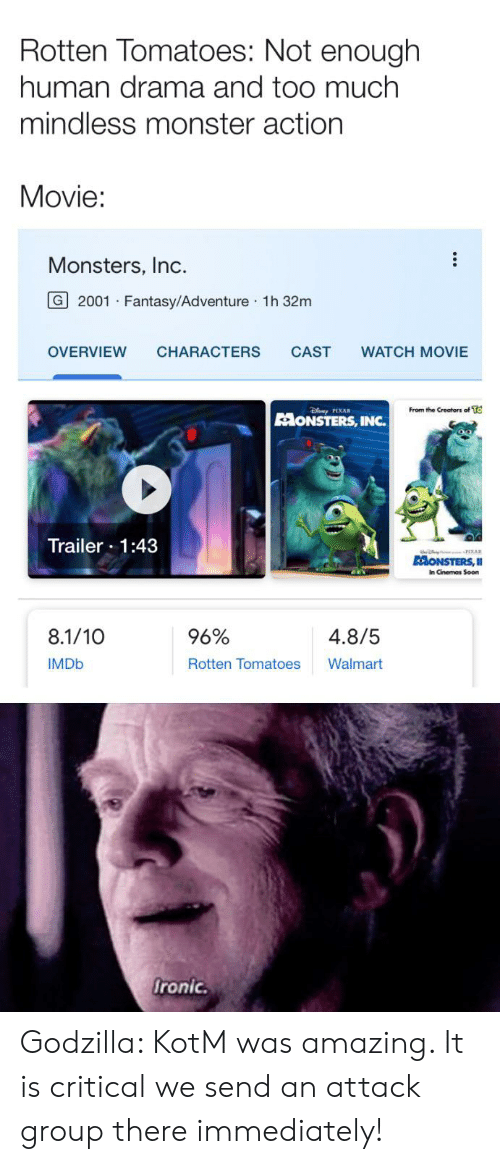 Rotten Tomatoes Not Enough Human Drama and Too Much Mindless