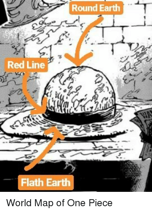 Round earth red line flath earth earth meme on me earth one piece and world round earth red line flath earth gumiabroncs Image collections