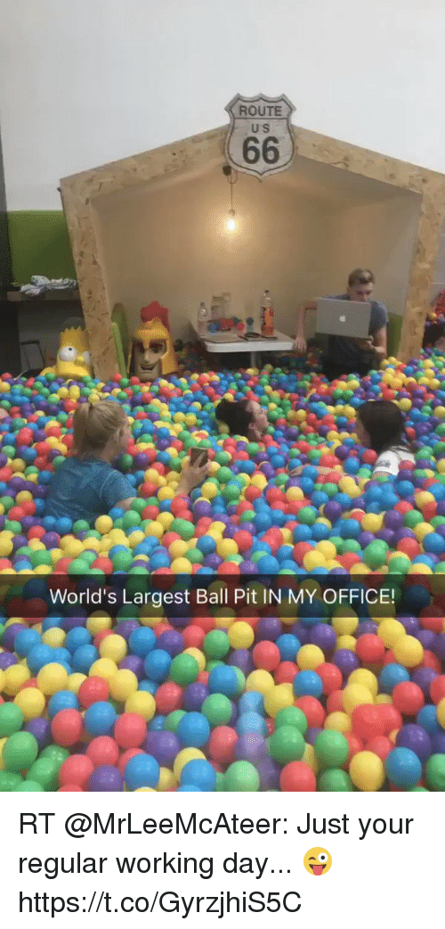 Route Us World S Largest Ball Pit In My Office Rt Mrleemcateer Just Your