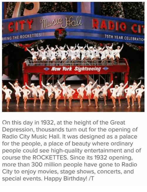 RRING THE ROCKETTESMI 75TH YEAR CELEBRATIO New York