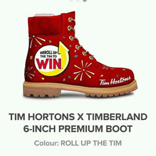 a7f5c8442 Timberland, Tim Hortons, and Inch: RRROLLUP THE TIM TO WIN Ta Hortons TIM