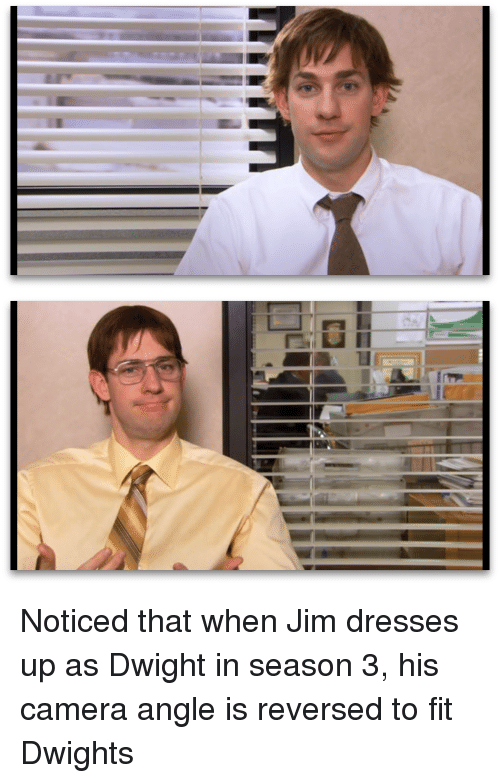 Rs凵目 Rim L」 Noticed That When Jim Dresses Up as Dwight in