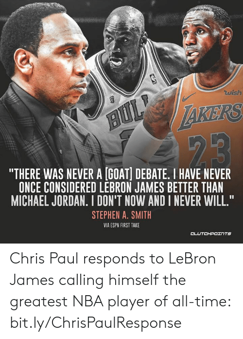 c40a0e382e0 RS THERE WAS NEVER a GOAT DEBATE I HAVE NEVER ONCE CONSIDERED LEBRON ...