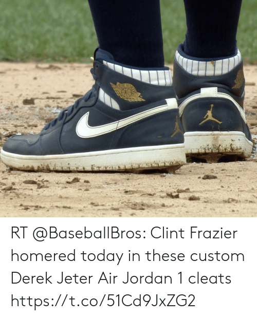 the latest bd87f 8c78b Air Jordan, Derek Jeter, and Jordan  RT  BaseballBros  Clint Frazier homered
