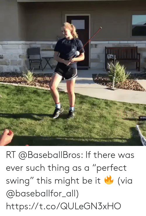 """Via, All, and Thing: RT @BaseballBros: If there was ever such thing as a """"perfect swing"""" this might be it 🔥 (via @baseballfor_all) https://t.co/QULeGN3xHO"""