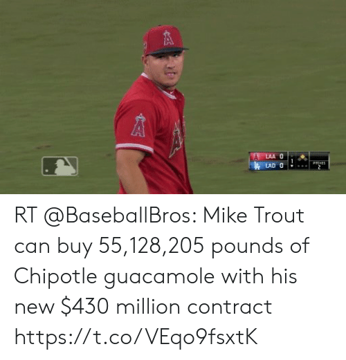 RT Mike Trout Can Buy 55128205 Pounds Of Chipotle