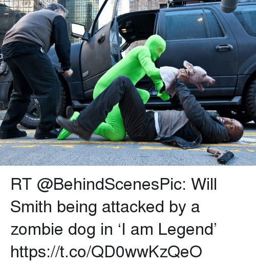 Rt Will Smith Being Attacked By A Zombie Dog In I Am Legend