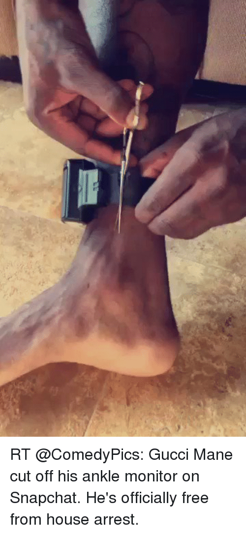 Rt Gucci Mane Cut Off His Ankle Monitor On Snapchat He S Officially