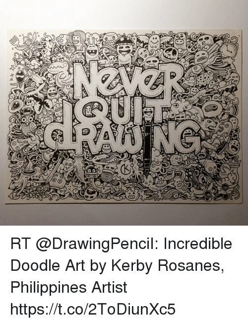 RT Incredible Doodle Art By Kerby Rosanes Philippines Artist