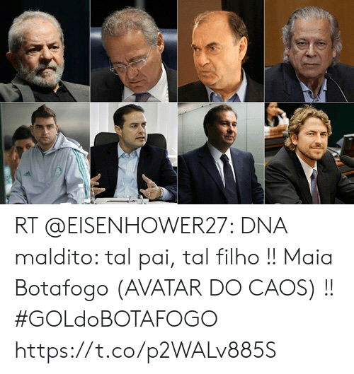 Memes, Avatar, and 🤖: RT @EISENHOWER27: DNA maldito: tal pai, tal filho !! Maia Botafogo (AVATAR DO CAOS) !!   #GOLdoBOTAFOGO https://t.co/p2WALv885S