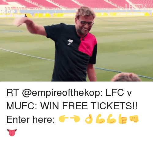 RT LFC v MUFC WIN FREE TICKETS!! Enter Here