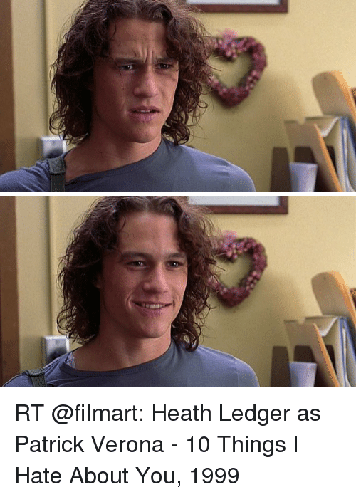 Rt Heath Ledger As Patrick Verona 10 Things I Hate About You 1999