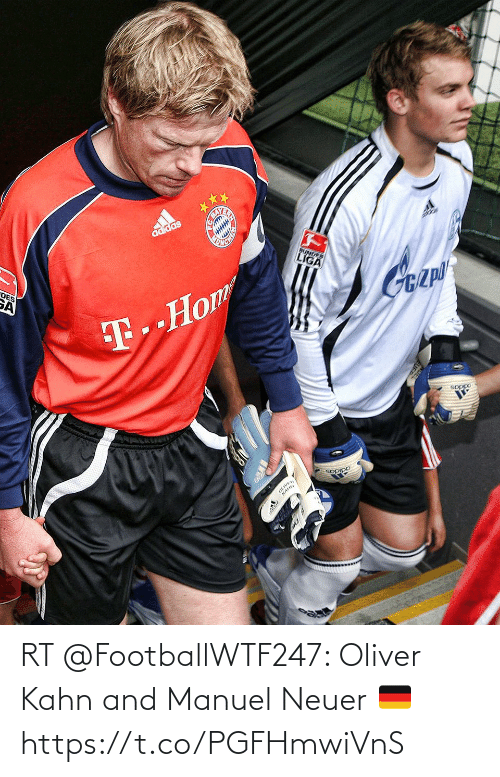 Memes, 🤖, and Oliver Kahn: RT @FootballWTF247: Oliver Kahn and Manuel Neuer 🇩🇪 https://t.co/PGFHmwiVnS