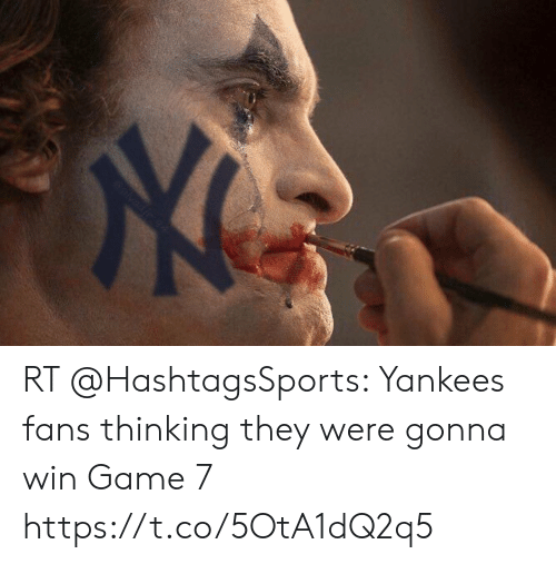 Nfl, New York Yankees, and Game: RT @HashtagsSports: Yankees fans thinking they were gonna win Game 7 https://t.co/5OtA1dQ2q5