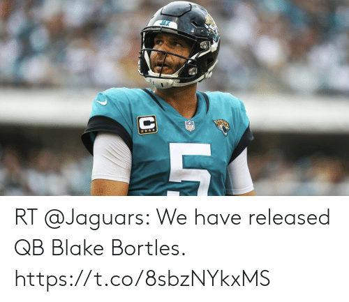 Memes, 🤖, and Jaguars: RT @Jaguars: We have released QB Blake Bortles. https://t.co/8sbzNYkxMS