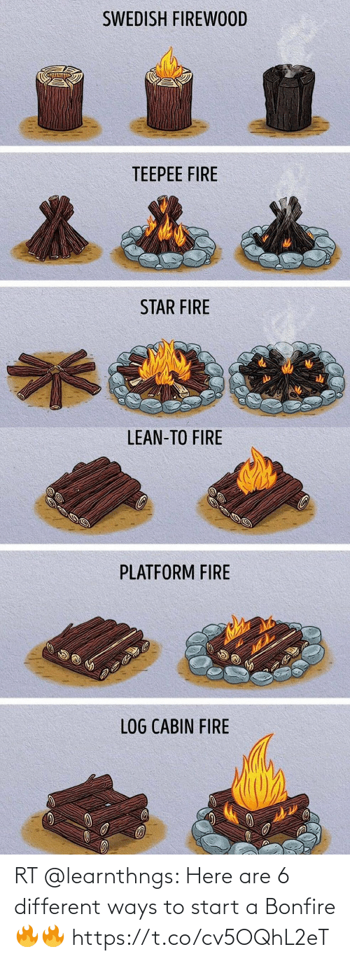 Memes, 🤖, and Start A: RT @learnthngs: Here are 6 different ways to start a Bonfire🔥🔥 https://t.co/cv5OQhL2eT