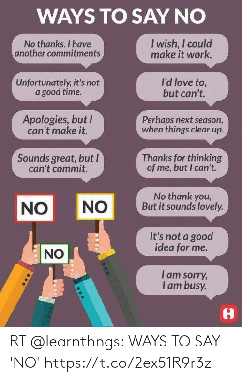 Memes, 🤖, and  No: RT @learnthngs: WAYS TO SAY 'NO' https://t.co/2ex51R9r3z