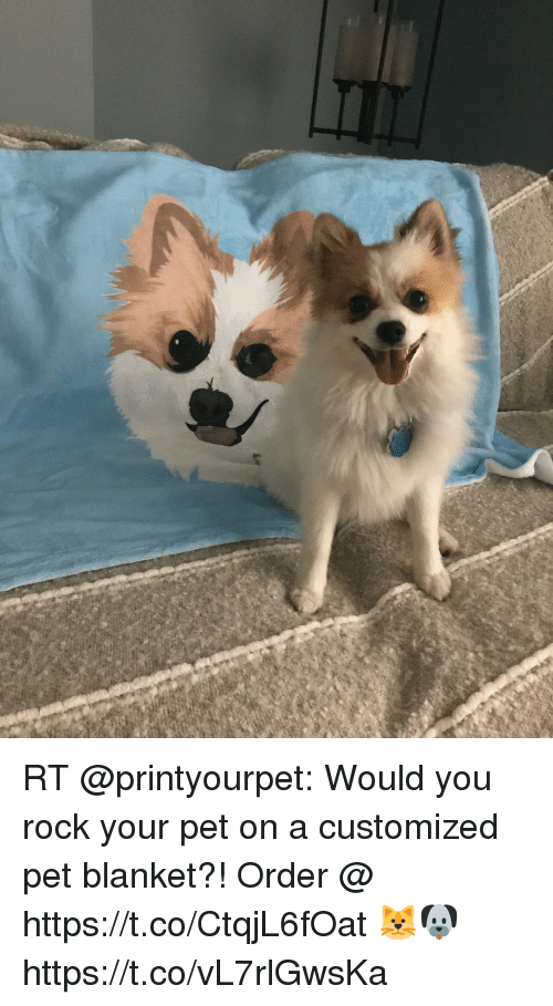 Rt Would You Rock Your Pet On A Customized Pet Blanket Order