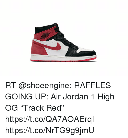 "low priced 129f3 a7805 RT RAFFLES GOING UP Air Jordan 1 High OG ""Track Red ..."