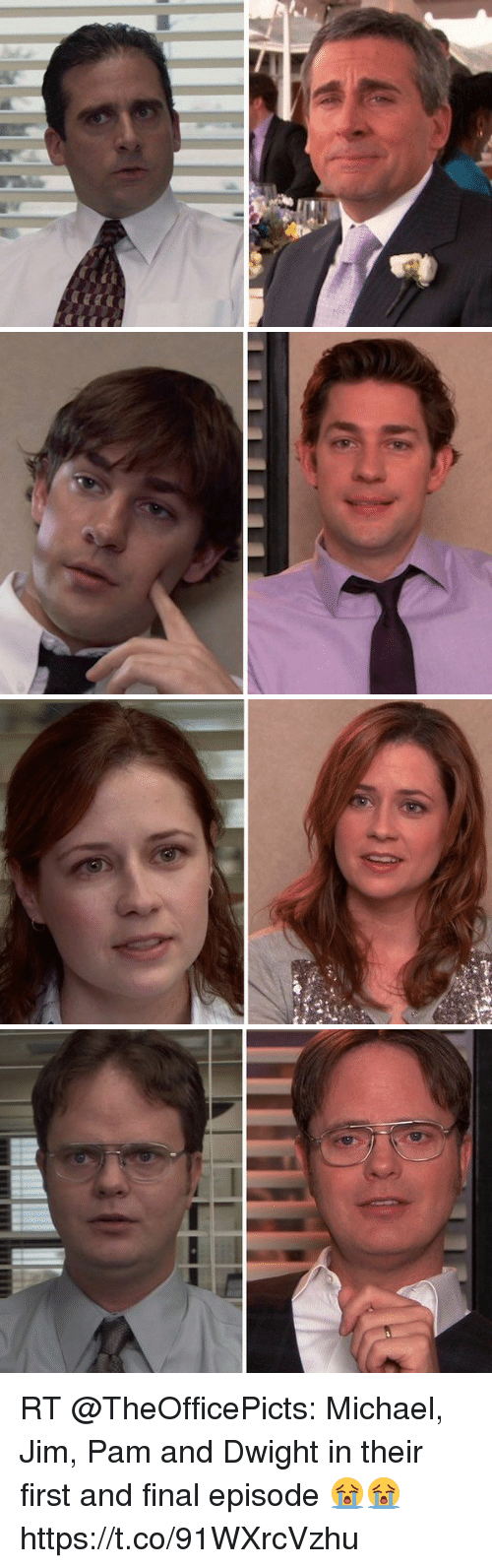 RT Michael Jim Pam and Dwight in Their First and Final