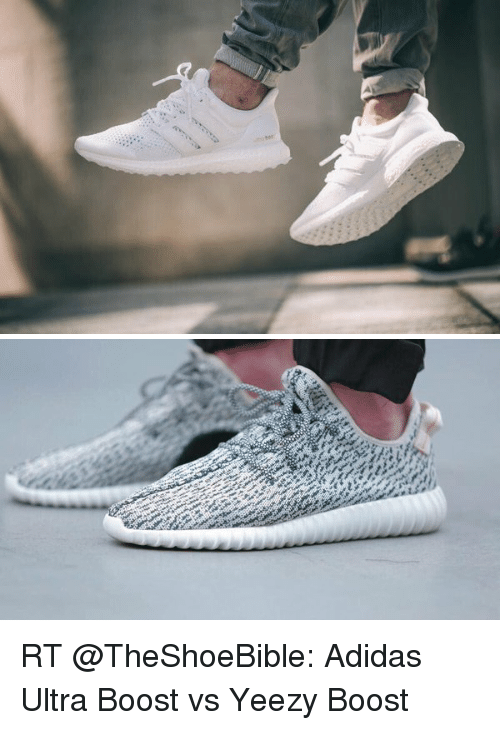 Adidas, Yeezy, and Boost: RT @TheShoeBible: Adidas Ultra Boost vs Yeezy