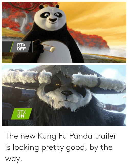 Rtx Off Rtx On The New Kung Fu Panda Trailer Is Looking Pretty