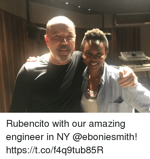 Memes, Amazing, and 🤖: Rubencito with our amazing engineer in NY @eboniesmith! https://t.co/f4q9tub85R