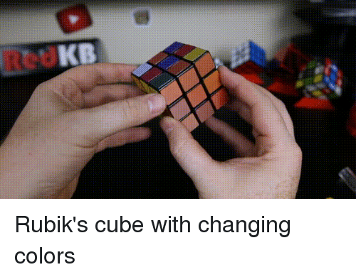 Rubik's Cube With Changing Colors | Cube Meme on ME ME