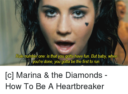 Marina And The Diamonds Rules