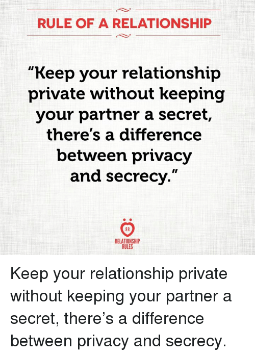 How To Keep Your Relationship Secret