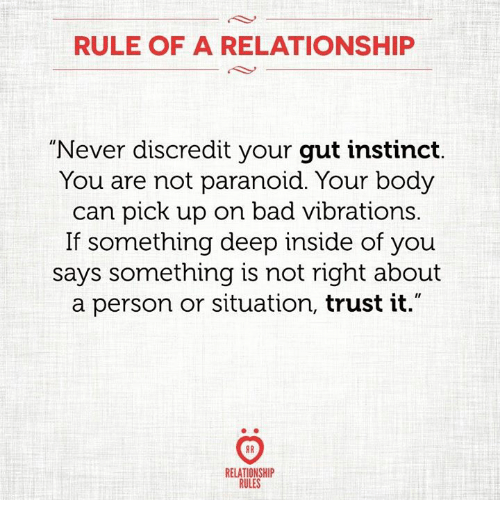 Gut instinct in relationships