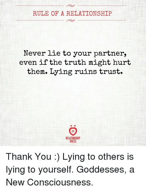 lying to your partner