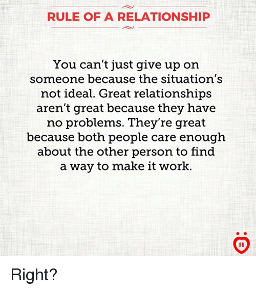 how to not give up on a relationship