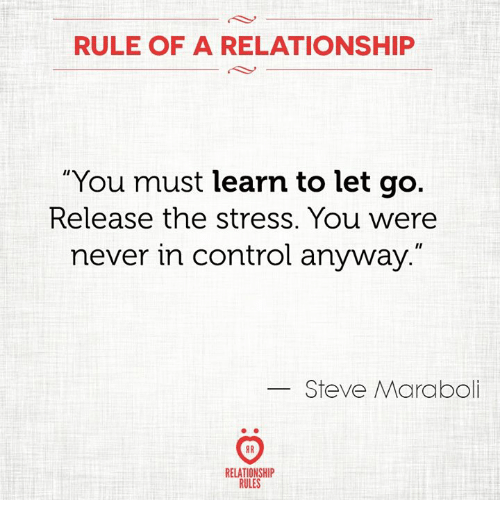 learning to let go of a relationship